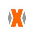 letter x logo alphabetical logo design vector image