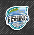 logo for fishing vector image vector image