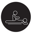 massage spa therapy black concept icon vector image vector image