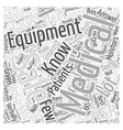 Medical Equipment Sales Career Word Cloud Concept vector image vector image