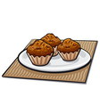 muffins vector image vector image