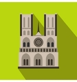 Norte Dame Cathedral Paris icon flat style vector image vector image