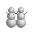object snowman couple in 3d vector image