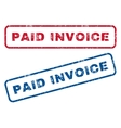 Paid Invoice Rubber Stamps vector image