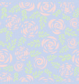 pastel roses seamless pattern background vector image vector image