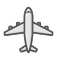 plane filled outline icon transport air vehicle vector image vector image