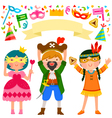 Purim party vector image vector image