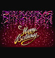 red party background happy birthday celebration vector image vector image