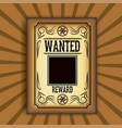 retro and vintage wanted poster design vector image vector image