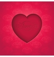 Retro heart on old royal background vector image