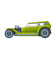 retro style green car old sports automobile vector image vector image