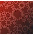 rusty cogwheels vector image