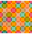 Seamless Retro Circles Colorful Background vector image