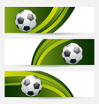 Set football cards with place for your text vector image