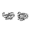 set of handwritten lettering summer time vector image vector image