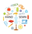 Sewing tools concept vector image vector image