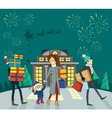 Shopping Gifts on Winter Holidays Concept vector image