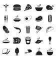 Simple black style Food Icon Set vector image