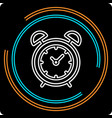 simple clock thin line icon vector image