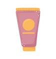 skincare lotion tube vector image vector image