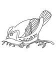 song bird 10 vector image vector image