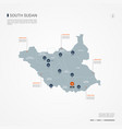 south sudan infographic map vector image vector image