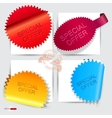 Special off stickers vector image