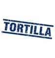Square grunge blue tortilla stamp