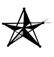 Star symbol in doodle style vector image
