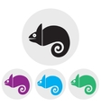 Stylized silhouette of chameleon on a light vector image vector image
