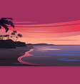 sunset on beautiful tropical seascape vector image