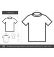 t-shirt line icon vector image vector image
