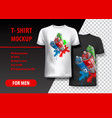 t-shirt template fully editable with paint spray vector image vector image