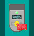 terminal and bank card vector image vector image