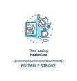 time saving healthcare concept icon vector image vector image