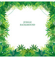 tropical jungle frame vector image vector image