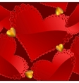 Valentines day seamless background vector image
