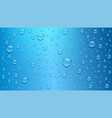 water drops on blue background three dimensional vector image vector image
