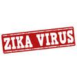 zika virus stamp vector image