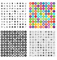 100 sport equipment icons set variant vector image vector image