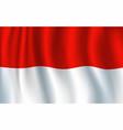 3d realistic wavy monaco flag vector image