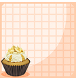 A paper with a cupcake vector image vector image