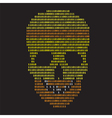 abstract binary skull vector image vector image