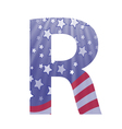 american letter R vector image vector image