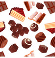 background seamless with chocolate candy slice of vector image vector image