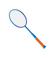 badminton racket sport equipment detailed design vector image vector image