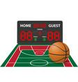 basketball sports digital scoreboard vector image vector image