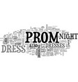 best prom dress text word cloud concept vector image vector image