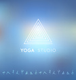 Blured background with yoga logo vector image vector image