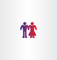 bride and grooms boy couple icon vector image